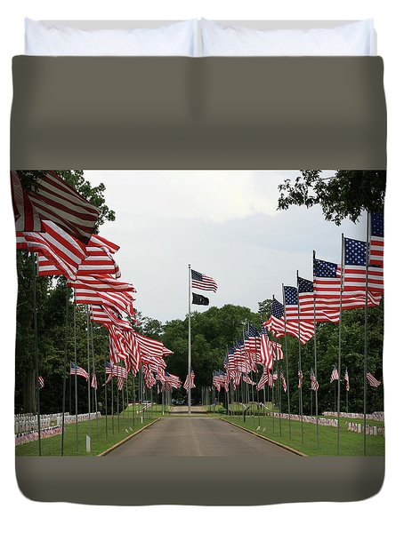 Duvet Cover featuring the photograph Andersonville National Cemetery by Jerry Battle