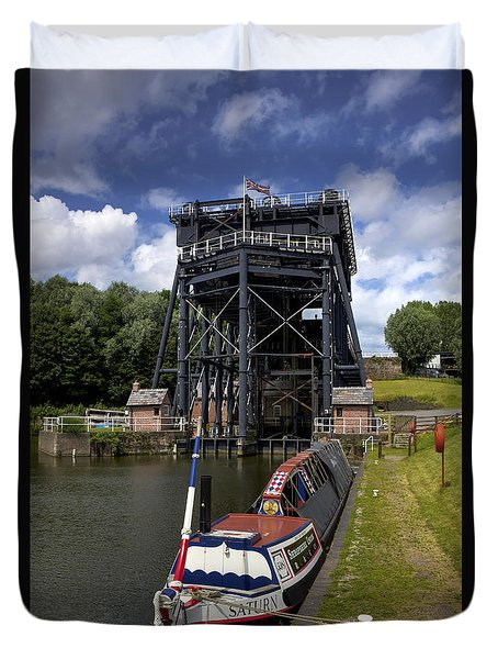 Anderton Boatlift Duvet Cover by Phil Tomlinson