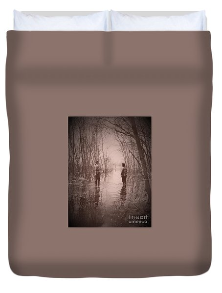 Andrew And Sarah Duvet Cover