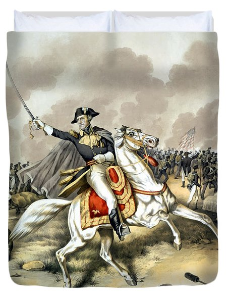 Andrew Jackson At The Battle Of New Orleans Duvet Cover by War Is Hell Store