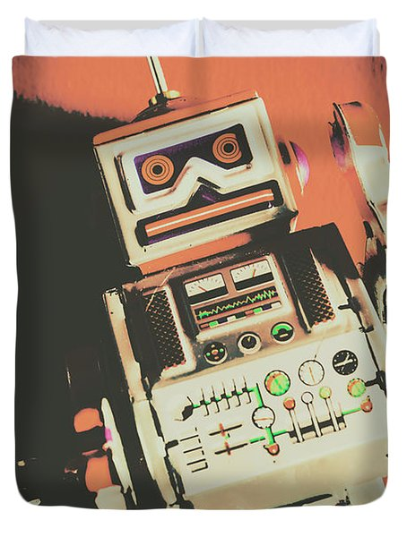 Android Short Circuit  Duvet Cover