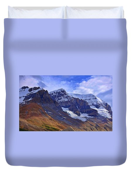 Mount Andromeda Duvet Cover by Heather Vopni