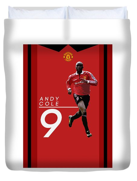 Andy Cole Duvet Cover by Semih Yurdabak