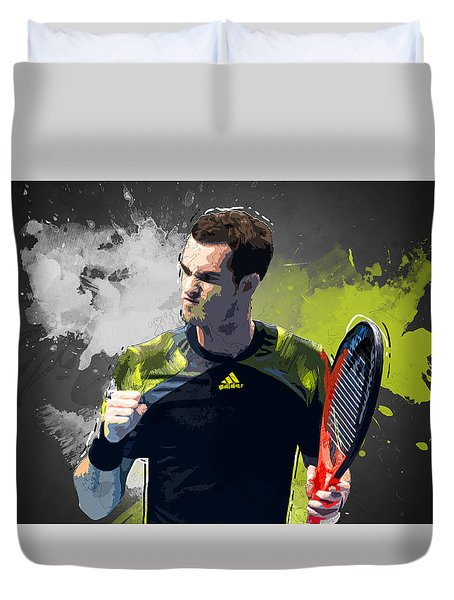 Andy Murray Duvet Cover by Semih Yurdabak