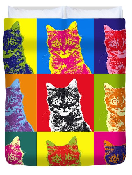 Andy Warhol Cat Duvet Cover