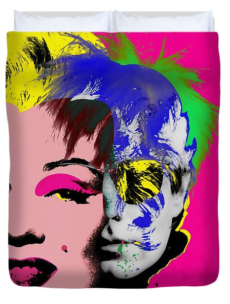 Andy Warhol Collection Duvet Cover by Marvin Blaine
