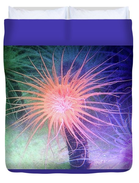 Duvet Cover featuring the photograph Anemone Color by Anthony Jones