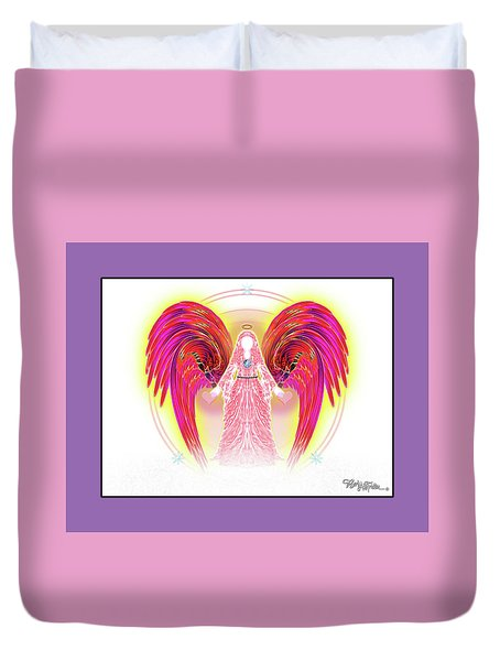 Angel #199 Duvet Cover by Barbara Tristan