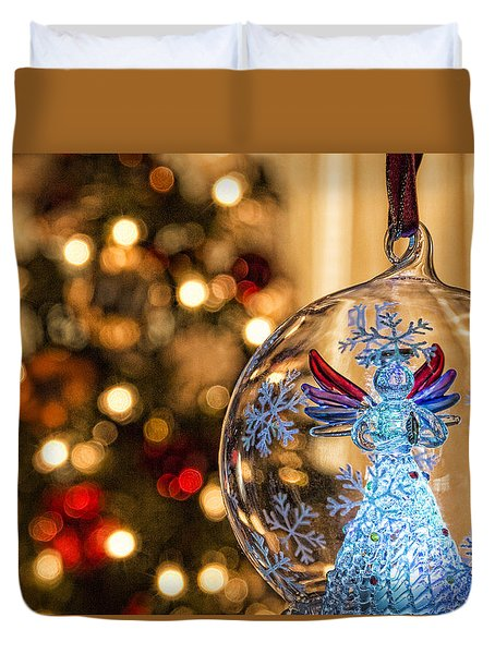 Duvet Cover featuring the photograph Angel Aglow by Bill Kesler