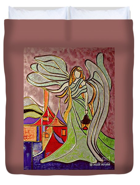 Angel  Duvet Cover by AmaS Art