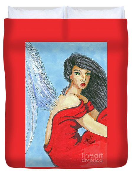 Angel Among Us Duvet Cover