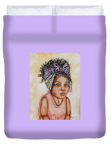 Angel Baby, The Painting Duvet Cover