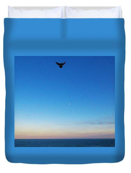 Angel Bird Duvet Cover by Kathy Long