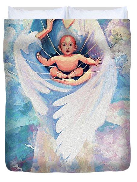 Angel Blessing Duvet Cover