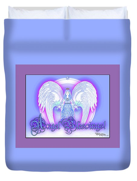 Angel Blessings #196 Duvet Cover