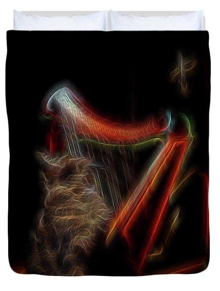 Angel Cat Duvet Cover by William Horden