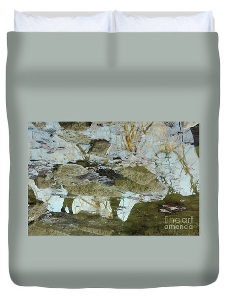 Angel Disguised As Coyote Duvet Cover