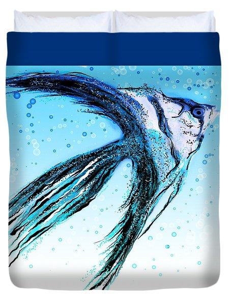 Angel Fish Art Duvet Cover
