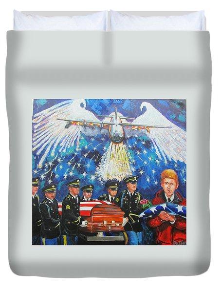 Angel Flight Duvet Cover