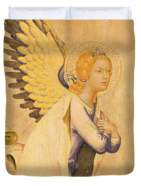Angel Gabriel  Duvet Cover by Simone Martini