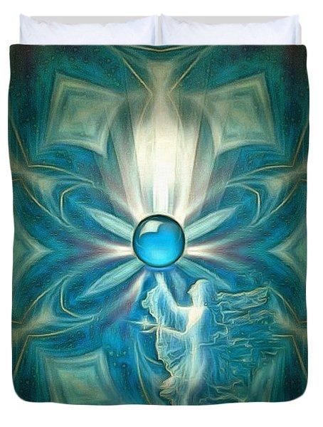 Angel Globe Duvet Cover