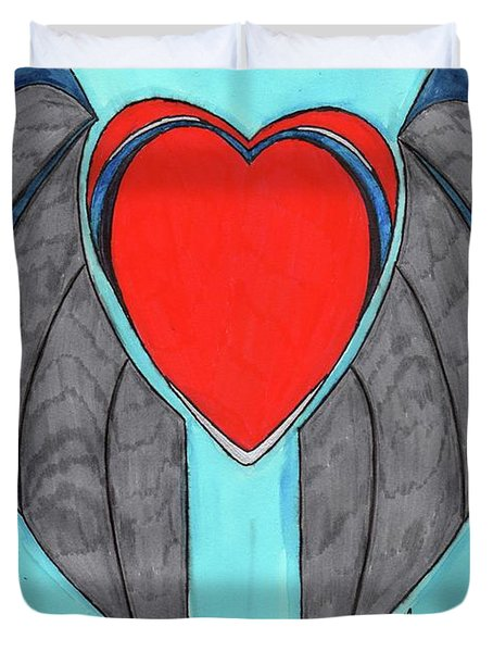 Angel Heart Duvet Cover by Ronald Woods