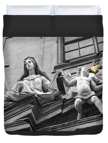 Duvet Cover featuring the photograph Angel Heart by Sonny Marcyan