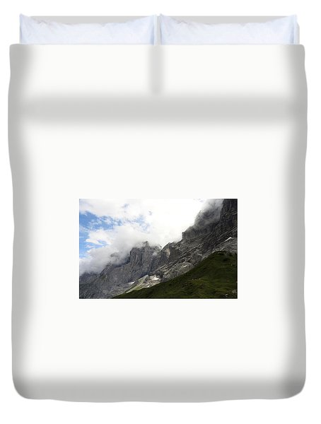 Angel Horns In The Clouds Duvet Cover