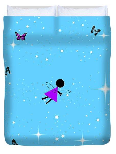 Angel In Flight Duvet Cover