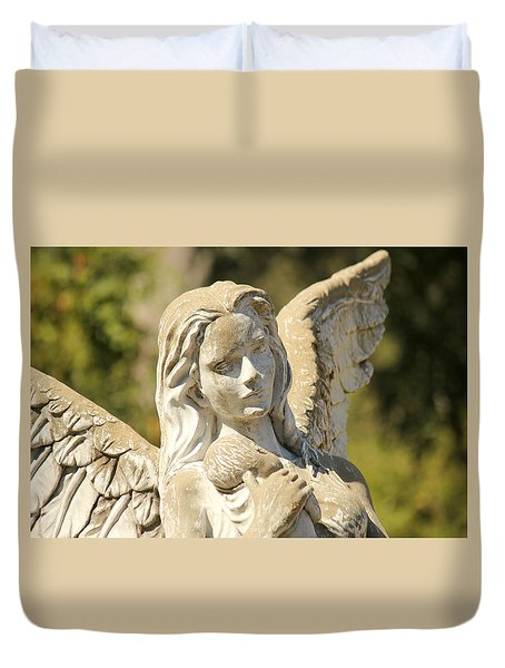 Angel In Mississippi Duvet Cover by Lynn Jordan