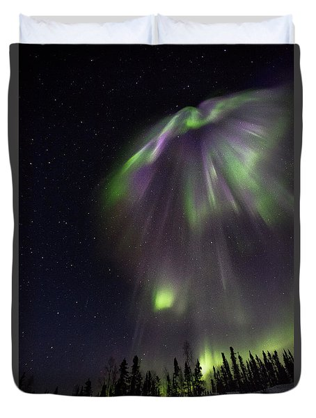 Angel In The Night Duvet Cover