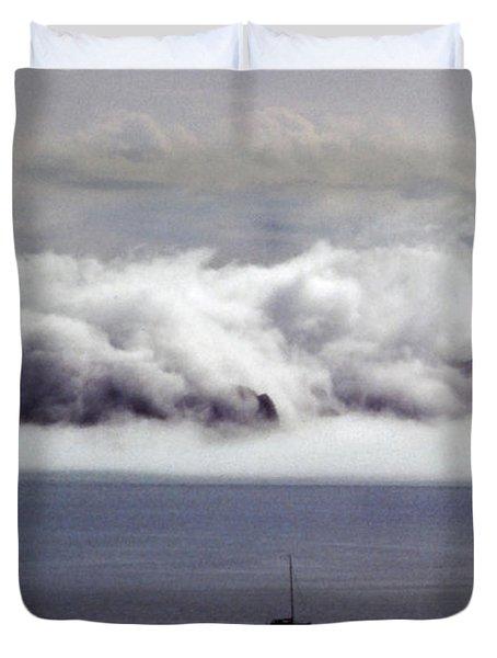 Angel Island Fog Duvet Cover