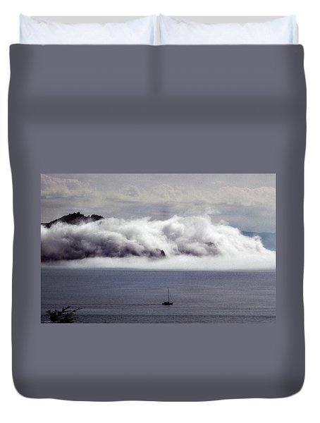 Angel Island Fog Duvet Cover