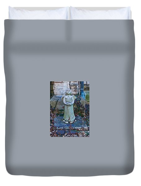 Angel Keokuk Church Duvet Cover