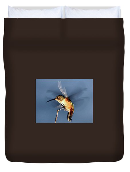 Angel Morphing Into A Hummingbird Duvet Cover