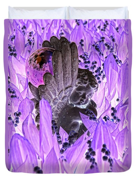 Angel Negative 2 Duvet Cover by Steven Clipperton