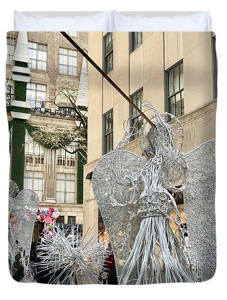 Angel New York City Duvet Cover