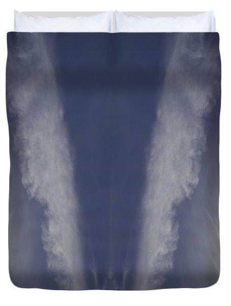 Angel Number Nine Duvet Cover by Kevin Blackburn