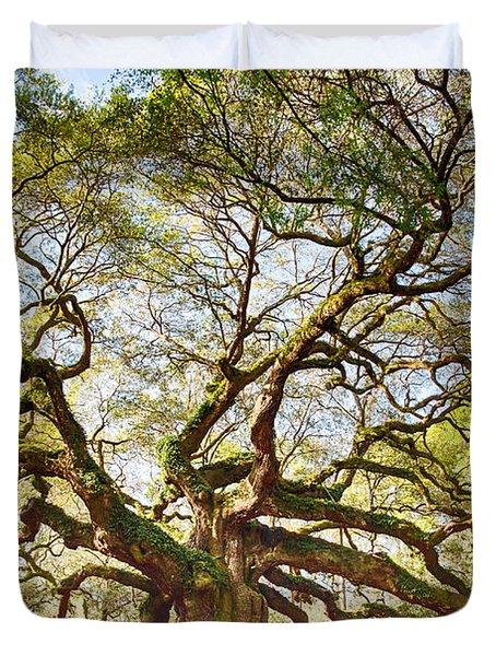 Angel Oak In Spring Duvet Cover