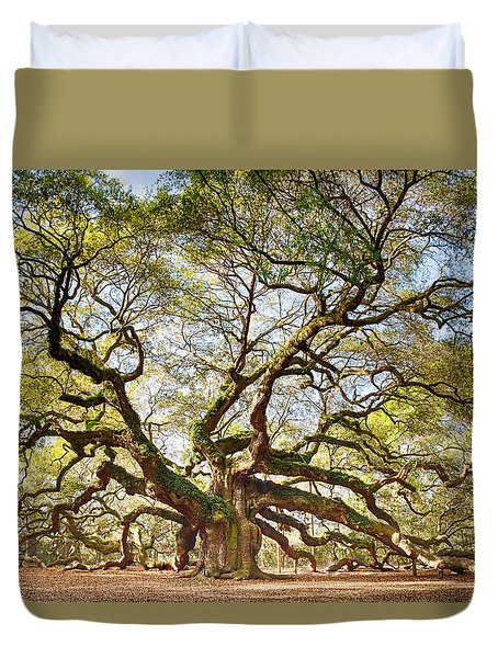 Angel Oak In Spring Duvet Cover