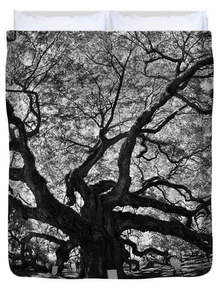 Angel Oak Johns Island Black And White Duvet Cover