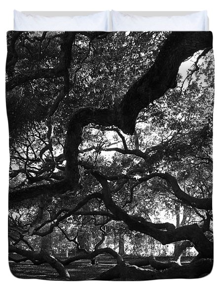 Angel Oak Limbs Bw Duvet Cover