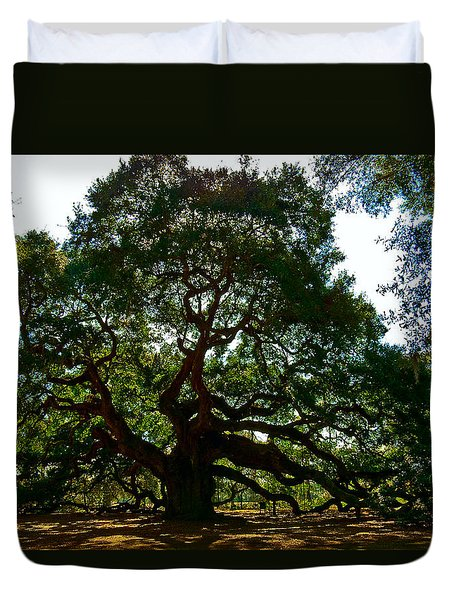 Angel Oak Tree 2004 Duvet Cover by Louis Dallara