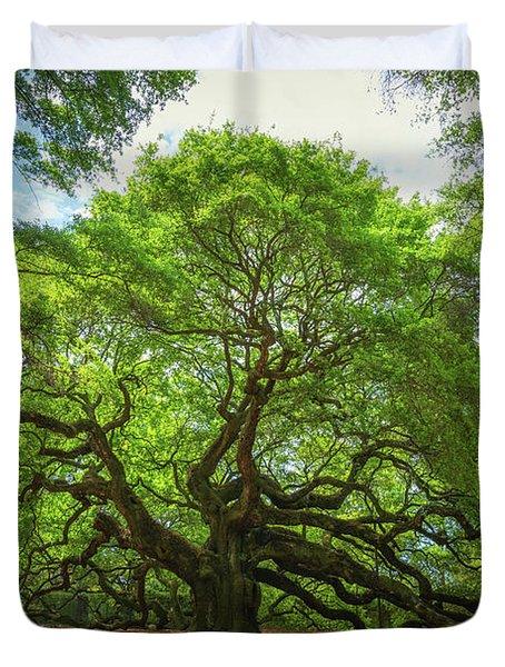 Angel Oak Tree In South Carolina  Duvet Cover