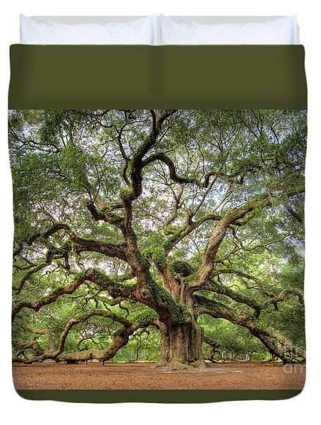 Angel Oak Tree Of Life Duvet Cover