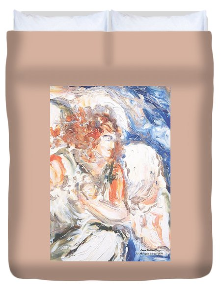 Angel Of Courage Duvet Cover