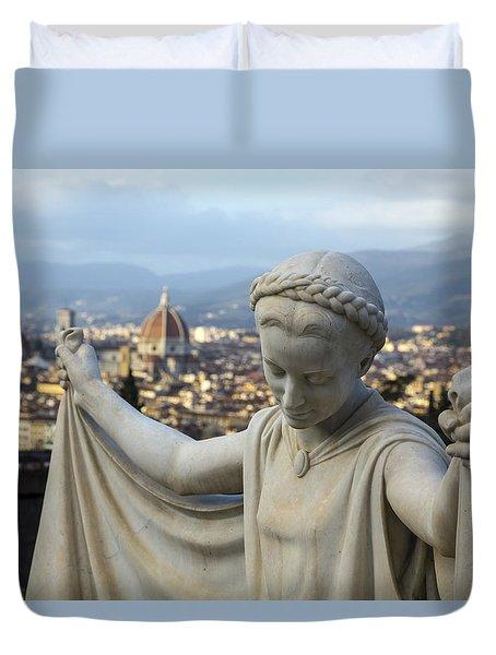 Angel Of Firenze Duvet Cover