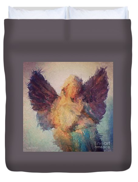 Angel Of Hope Duvet Cover by Robert ONeil