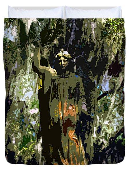 Angel Of Savannah Duvet Cover by David Lee Thompson