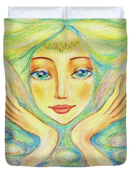 Angel Of Serenity Duvet Cover